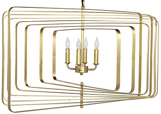 Noir Dimaclema Large Chandelier - Antiqued Brass