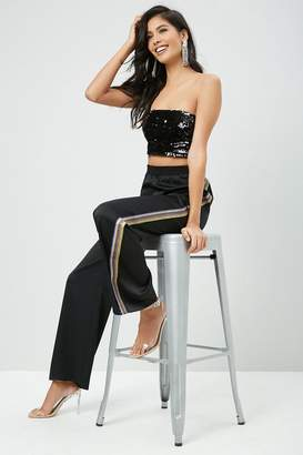 Forever 21 Cropped Sequin Tube Top