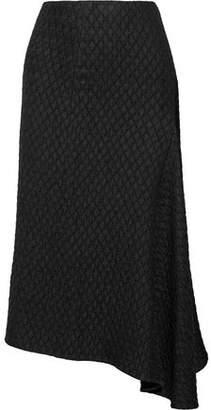 Victoria Beckham Draped Matelassé Midi Skirt