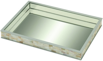 Uma Enterprises 18In Mirror Mother-Of-Pearl Tray