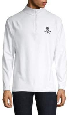 Skull Quarter-Zip Long-Sleeve Shirt