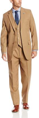 Stacy Adams Men's Big-Tall Suny Vested 3 Piece Suit