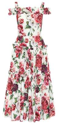 Dolce & Gabbana Floral-printed cotton dress