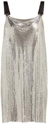 Paco Rabanne Metal-mesh cowl-neck mini dress