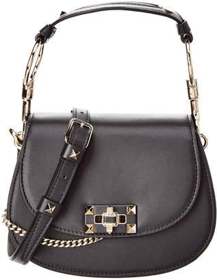 Valentino Nose Ring Leather Shoulder Bag