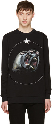 Givenchy Black Monkey Brothers Sweatshirt $790 thestylecure.com