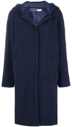 Sportmax Code hooded buttoned coat