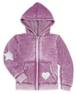 Rowdy Sprout Baby Girl's, Little Girl's & Girl's Heart Burnout Hoodie