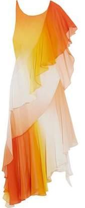 Temperley London Miracle Asymmetric Silk-Chiffon Dress