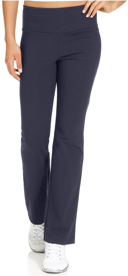 Style&Co. Style & Co. Petite Pants, Tummy Panel Slimming Straight-Leg Pull-On Lounge