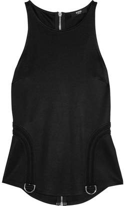 Versace Stretch-piqué Top - Black