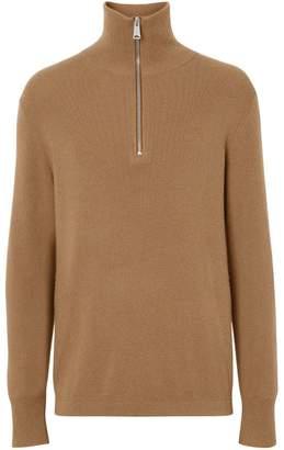 Burberry cashmere half-zip sweater