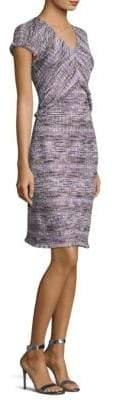 St. John Anna Woven Tweed A-Line Dress