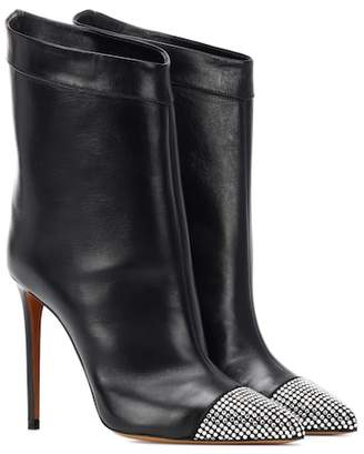 Alexandre Vauthier Cha Cha leather ankle boots