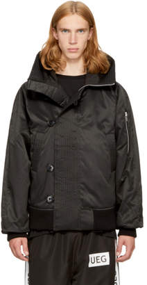 Ueg Black Hooded Flyers Jacket