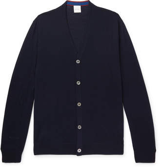 Paul Smith Merino Wool Cardigan - Navy