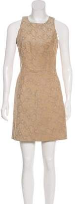 Rebecca Taylor Animal Print Suede Dress