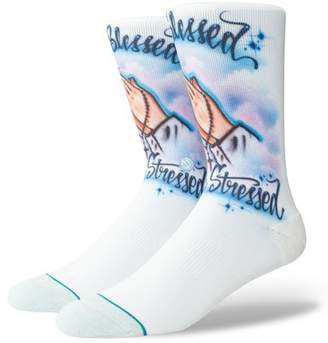 Stance Men's Blessed Airbrushed Pique Socks