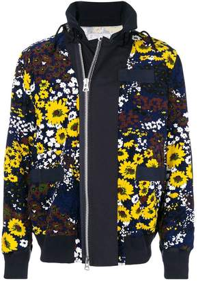 Sacai floral print bomber jacket