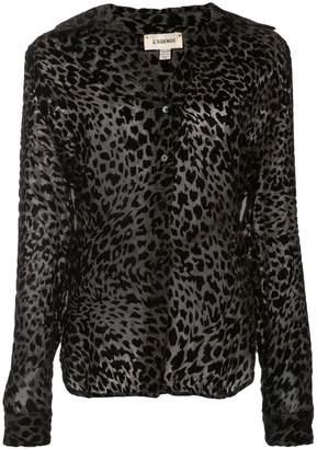 L'Agence leopard print blouse