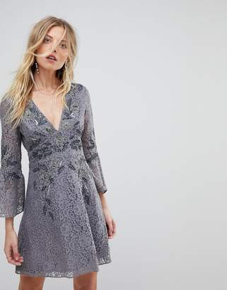 French Connection Embellished Lace Mini Dress