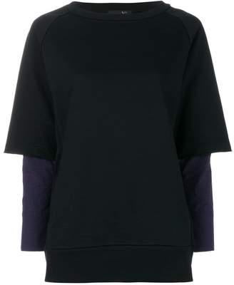 Y's layered sweatshirt