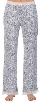 Kensie Printed Straight Leg Pajama Pants