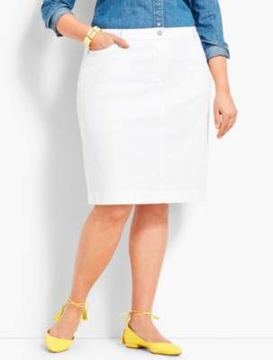 Talbots Denim Pencil Skirt - White