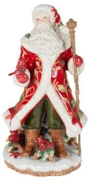 Fitz & Floyd Cardinal Christmas Santa Ceramic Figurine