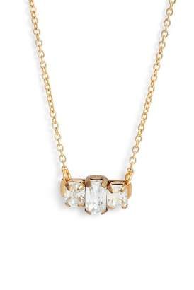 SANDY HYUN Crystal Bar Pendant Necklace