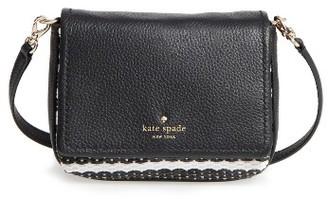 Kate Spade New York Cobble Hill Straw - Abela Crossbody Bag - Black $178 thestylecure.com