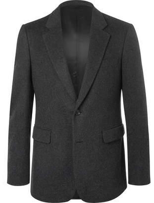 Burberry Dark-grey Slim-fit Mélange Felted Cashmere Blazer - Dark gray