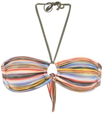 Track & Field Snake bandeau bikini top