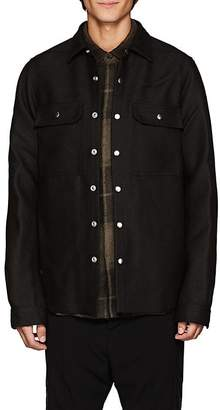 Rick Owens Men's Wool-Silk Canvas Shirt Jacket