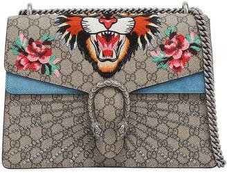 Gucci Medium Dionysus Angry Cat Gg Supreme Bag