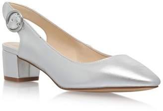 Nine West Silver 'Brigitte3' Mid Heel Sandals