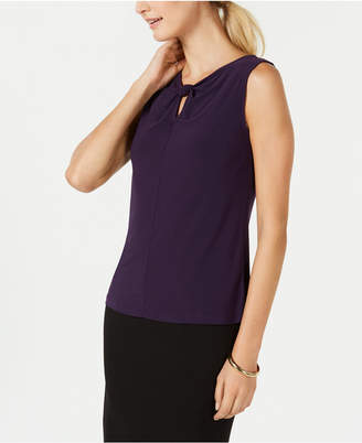 Nine West Sleeveless Keyhole Top