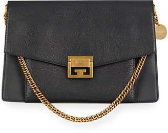 GV3 Medium Pebbled Leather Shoulder Bag - Golden Hardware