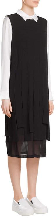 DKNYDKNY Crepe Dress with Chiffon