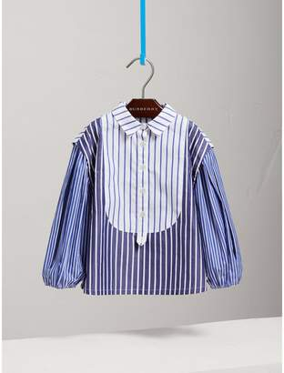 Burberry Contrasting Stripe Cotton Tunic Shirt
