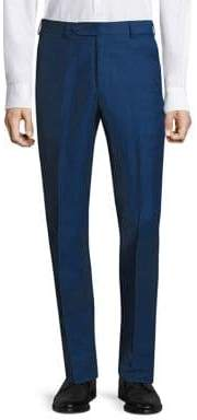 Saks Fifth Avenue COLLECTION BY SAMUELSOHN Classic-Fit Silk& Linen Trousers