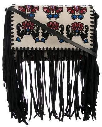 Isabel Marant Embroidered Fringe Shoulder Bag