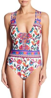 Nanette Lepore Antigua Goddess Print One-Piece Swimsuit