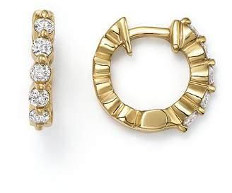 KC Designs 14K Yellow Gold Diamond Mini Huggie Hoop Earrings
