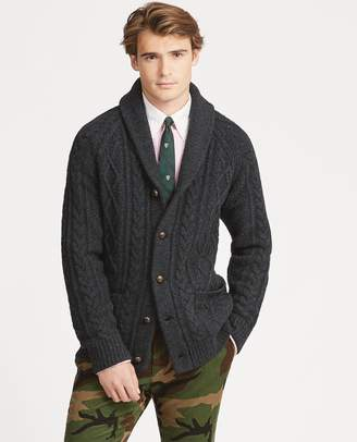 Ralph Lauren Cable Wool-Cashmere Cardigan