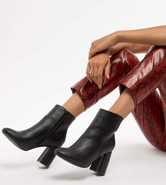 Truffle Collection Curved Heel Ankle Boots
