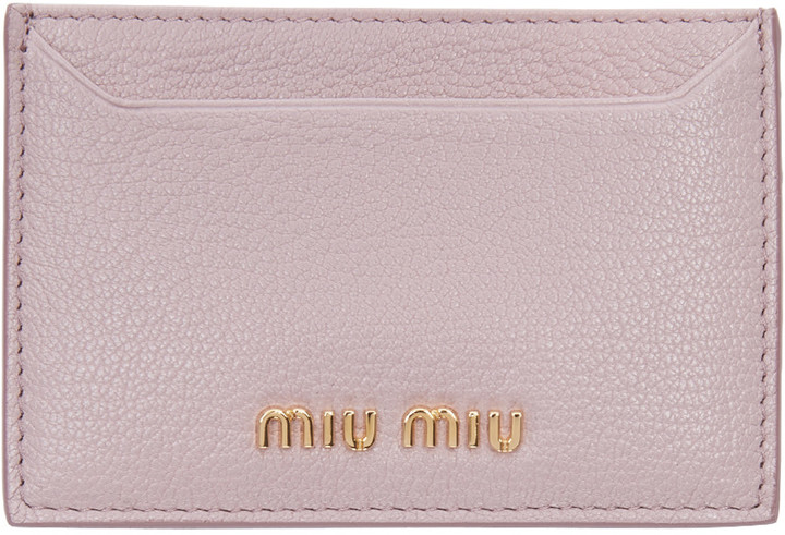 Miu Miu Miu Miu Pink Card Holder