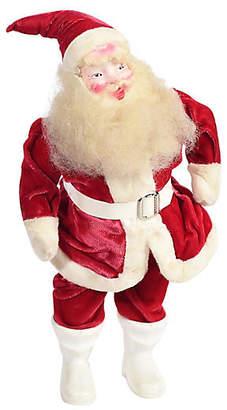 One Kings Lane Vintage 1940s Santa Figure w Velvet Suit