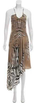 Just Cavalli Printed Asymmetrical Dress