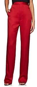 Haider Ackermann Women's Washed Satin High-Waist Trousers - Red
